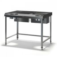Стол для обработки корнеплодов и овощей ТММ СДК-Н 1500/800