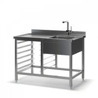 Стол для посудомоечной машины с мойкой ТММ СППМ-1200/700