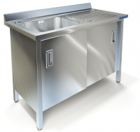 Ванна моечная с рабочей поверхностью Техно-ТТ ВМ-34/668Л/П
